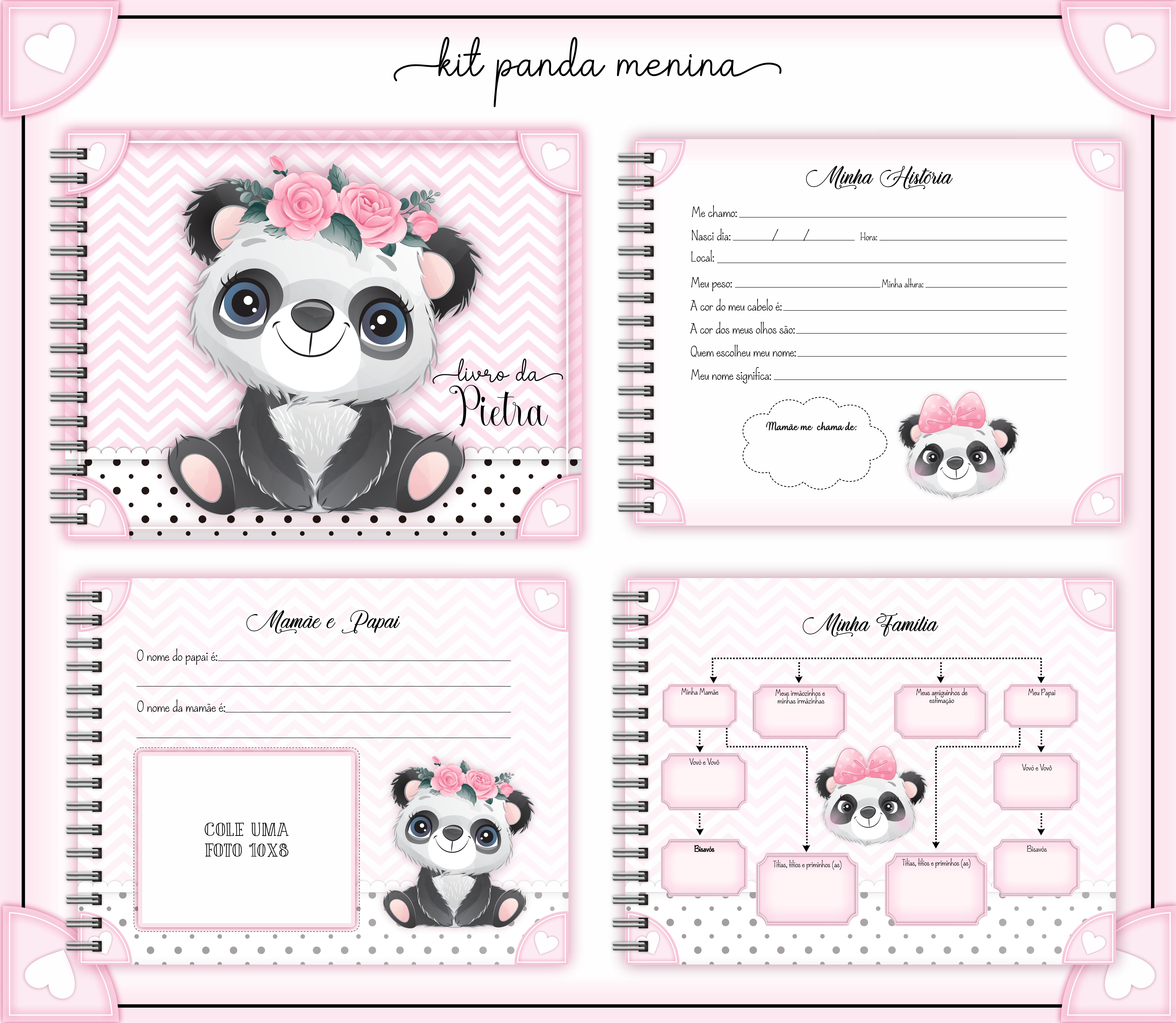 Livro do Bebê – Panda