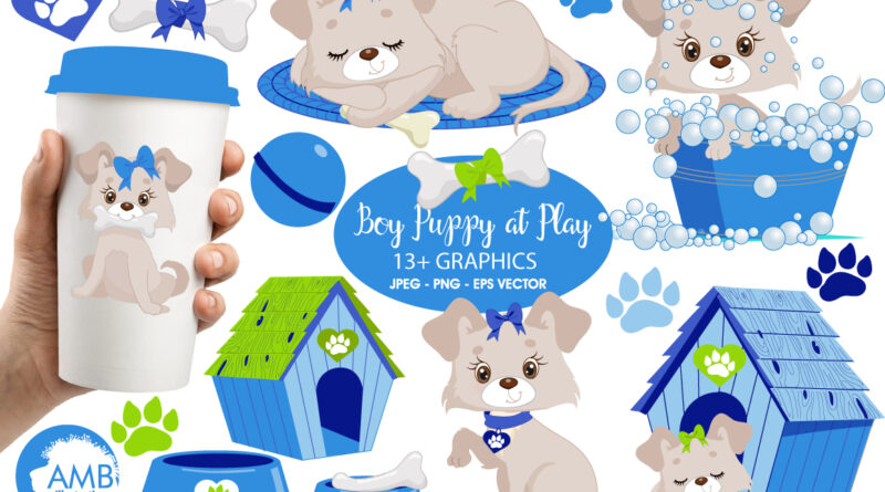 Kit Digital Cliparts Pet Azul
