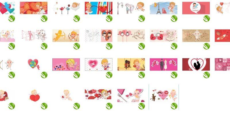 Kit 30 Estampas de Canecas Cupido – Dia dos Namorados (Corel Draw)