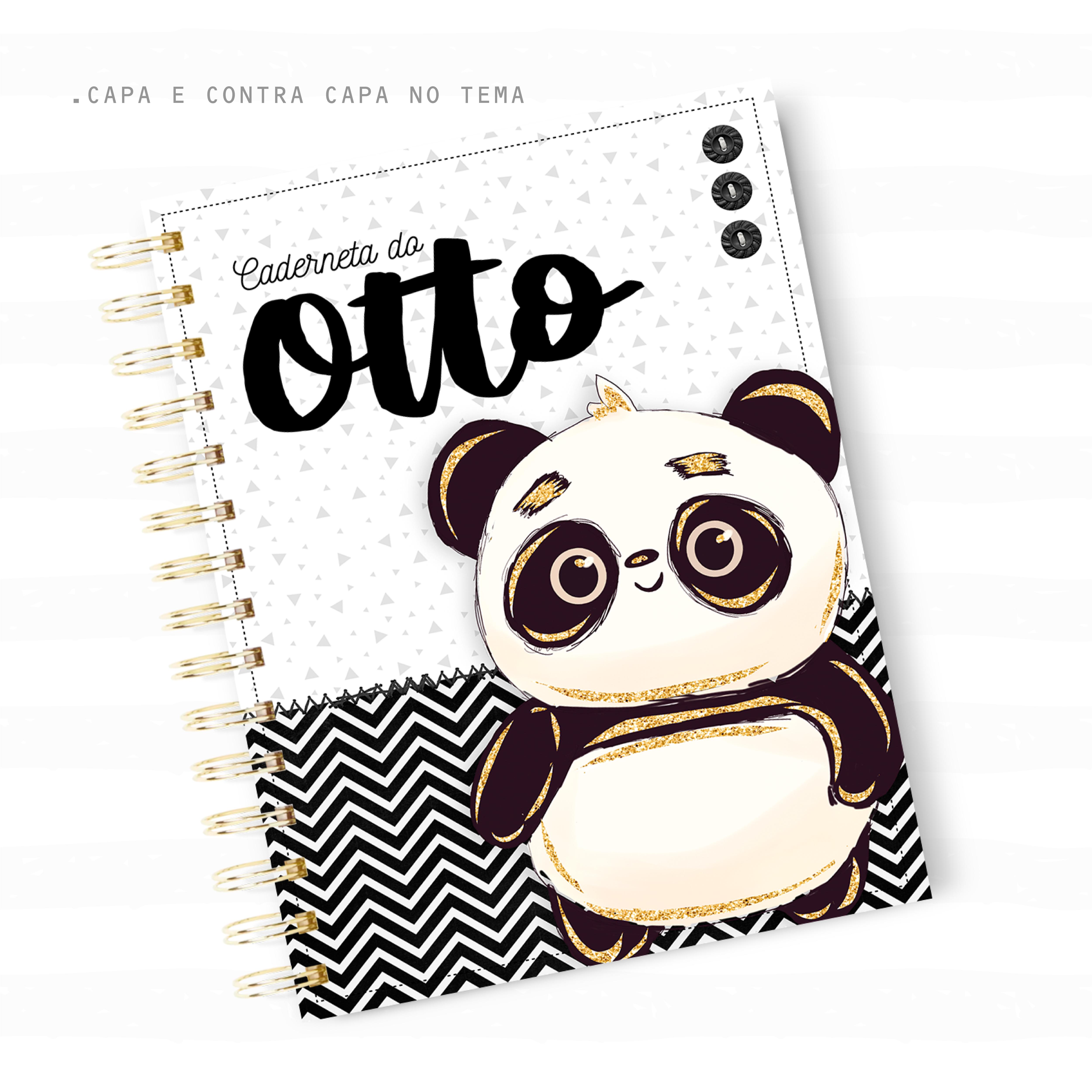 Caderneta de Vacina – Panda Menino