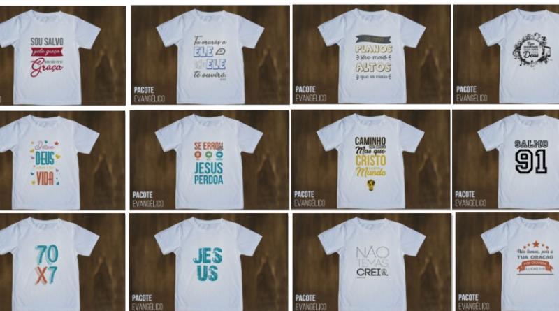 Estampas de Camisas Gospel – Corel