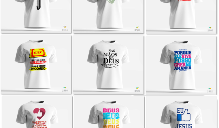 Estampas de Camisas Gospel – Editável (Corel , AI)