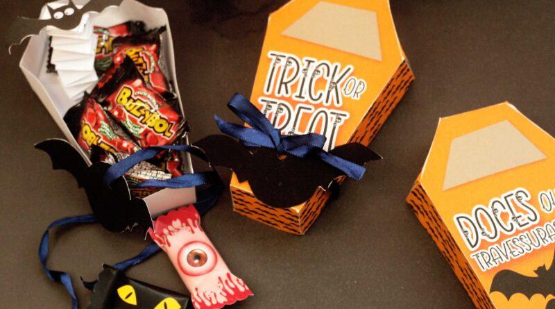 Kit Digital Balinha Halloween no caixão